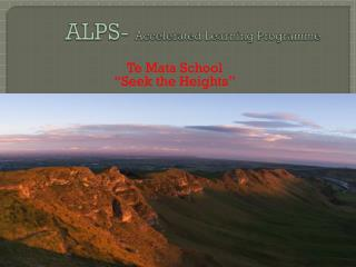 ALPS-  Accelerated Learning Programme