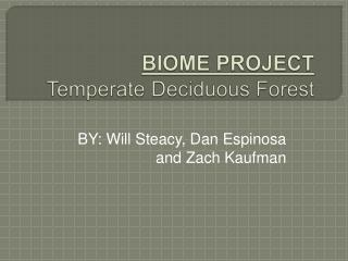 BIOME PROJECT Temperate Deciduous Forest