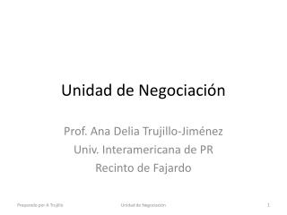 Unidad de Negociación