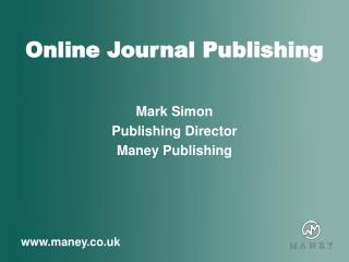 Online Journal Publishing