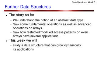 Further Data Structures