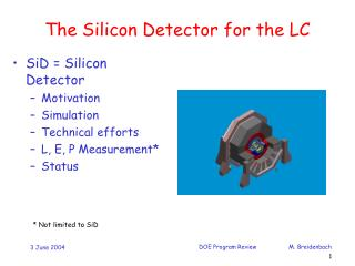 The Silicon Detector for the LC