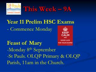 This Week – 9A