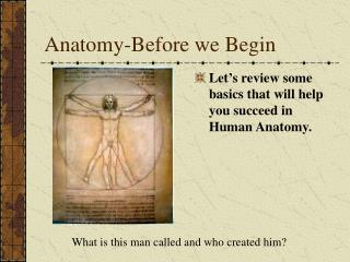 Anatomy-Before we Begin