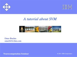 A tutorial about SVM