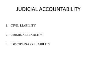 judicial corruption accountability and democracy A critical analysis of the relationship between overall the relationship between democracy and corruption is a electoral accountability and corruption.