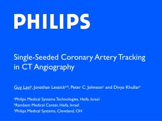 Single-Seeded Coronary Artery Tracking in CT Angiography