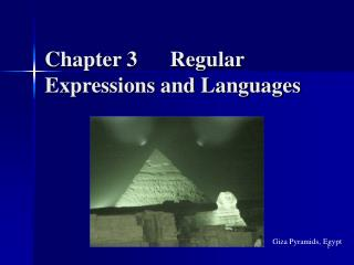 Chapter 3      Regular Expressions and Languages