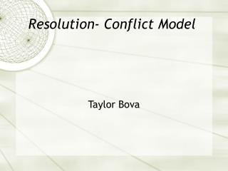 Resolution- Conflict Model