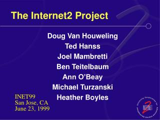 The Internet2 Project