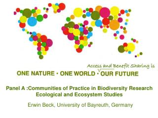 Panel A :Communities of Practice in Biodiversity Research Ecological and Ecosystem Studies