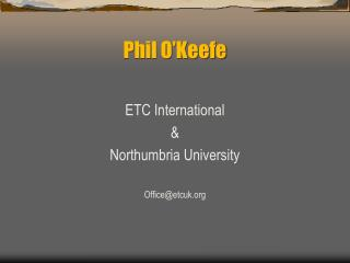 Phil O'Keefe