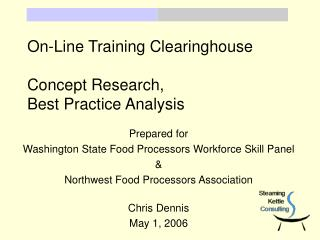 On-Line Training Clearinghouse Concept Research,  Best Practice Analysis