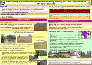 Participatory Watershed Management for Reducing Poverty and Land Degradation in SAT Asia - Thailand
