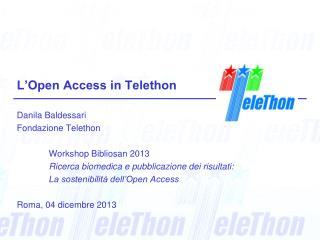 L'Open Access in Telethon