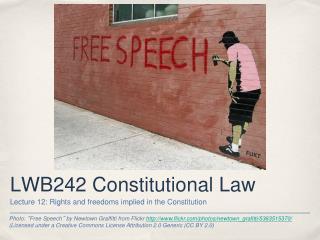 LWB242 Constitutional Law