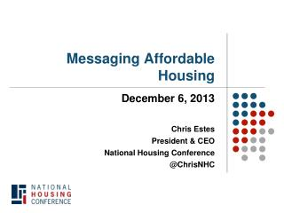 Messaging Affordable Housing