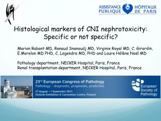 Histological  markers of CNI  nephrotoxicity : Specific  or not  specific ?