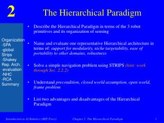 The Hierarchical Paradigm