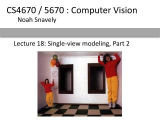 Lecture 18: Single-view modeling, Part 2
