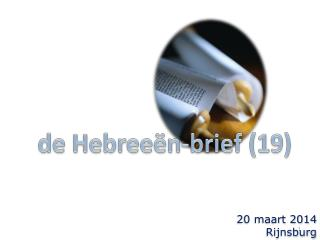 de Hebreeën-brief (19)