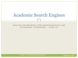 Academic Search  Engines