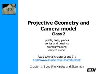 Projective Geometry and Camera model  Class 2