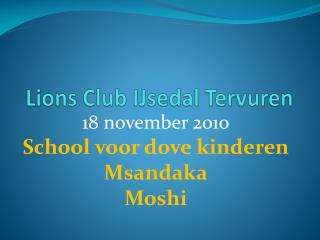 Lions Club IJsedal Tervuren