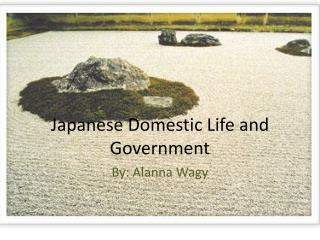 Japanese Domestic Life  and Government