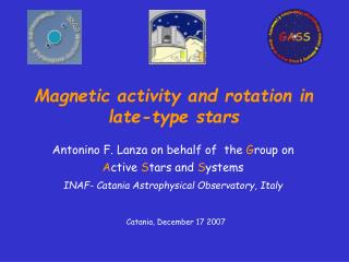 Magnetic activity and rotation in late-type stars