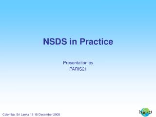 NSDS in Practice Presentation by PARIS21