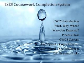 ISES Coursework Completion System