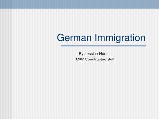 German Immigration