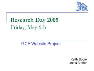 Research Day 2005 Friday, May 6th