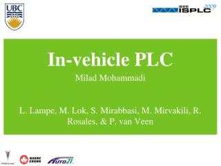 In-vehicle PLC
