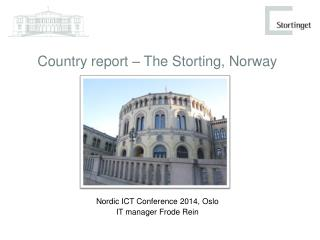 Country report – The Storting, Norway