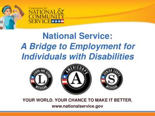 National Service: A Bridge to Employment for Individuals with Disabilities