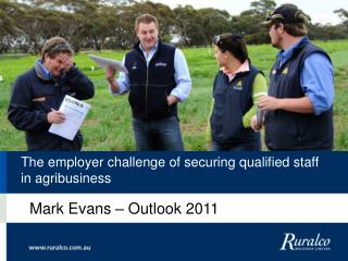 The employer challenge of securing qualified staff in agribusiness