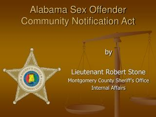 Alabama Sex Offender Community Notification Act