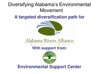 Diversifying Alabama's Environmental Movement A targeted diversification path for