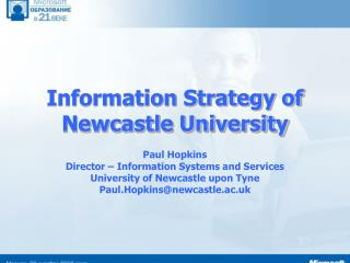 Information Strategy of Newcastle University