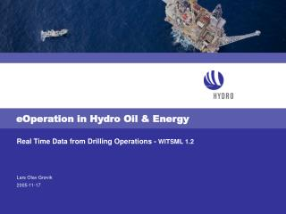 eOperation in Hydro Oil & Energy