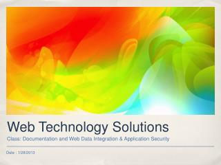 Web Technology Solutions