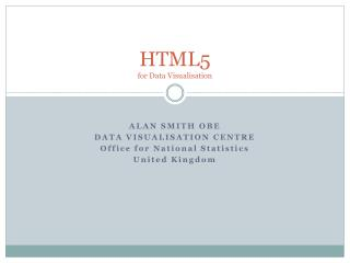 HTML5  for Data Visualisation
