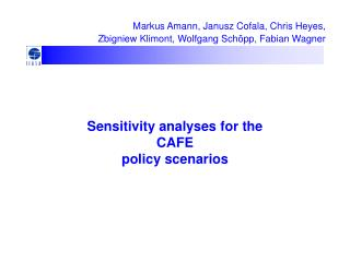 Sensitivity analyses for the  CAFE  policy scenarios
