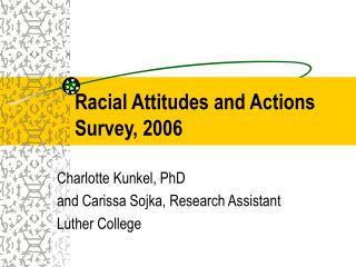Racial Attitudes and Actions Survey, 2006