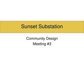 Sunset Substation