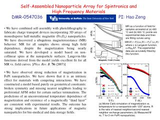 Self-Assembled Nanoparticle Array for Spintronics and