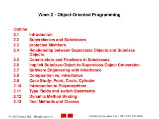 Week 2 - Object-Oriented Programming