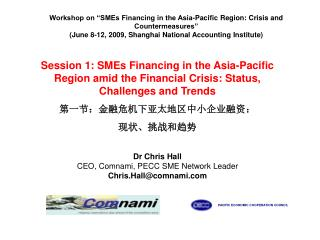 "Workshop on ""SMEs Financing in the Asia-Pacific Region: Crisis and Countermeasures"""